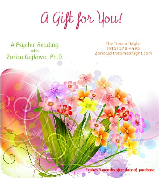 The Time of Light Psychic Readings, Zorica Gojkovic, Ph.D.